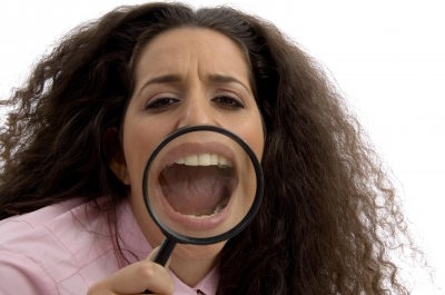 Lady Magnifying Glass Search